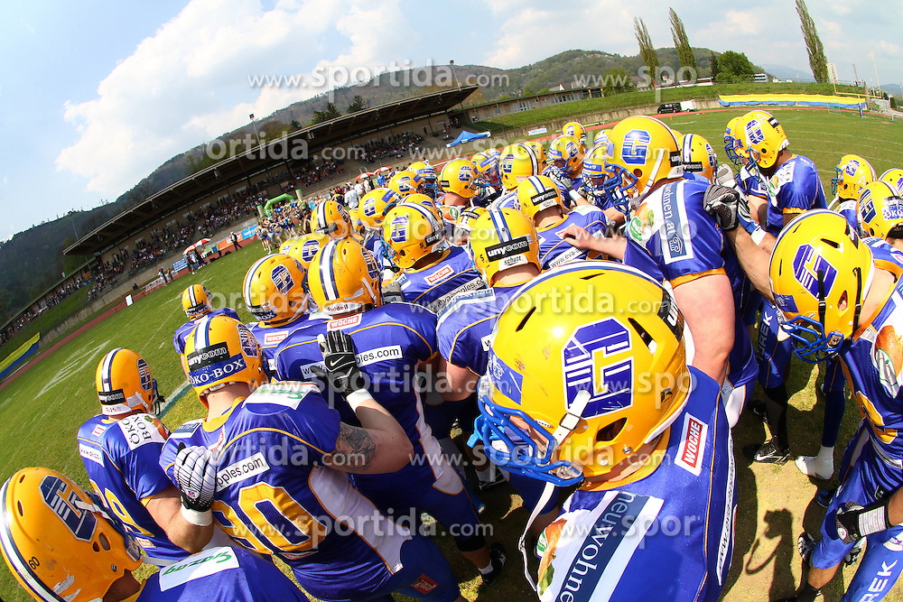 25.04.2010, Eggenberg Stadion, Graz, AUT, AFL, Turek Graz Giants vs Danube Dragons, im Bild Team der Giants,  EXPA Pictures © 2010, PhotoCredit: EXPA/ T. Haumer / SPORTIDA PHOTO AGENCY