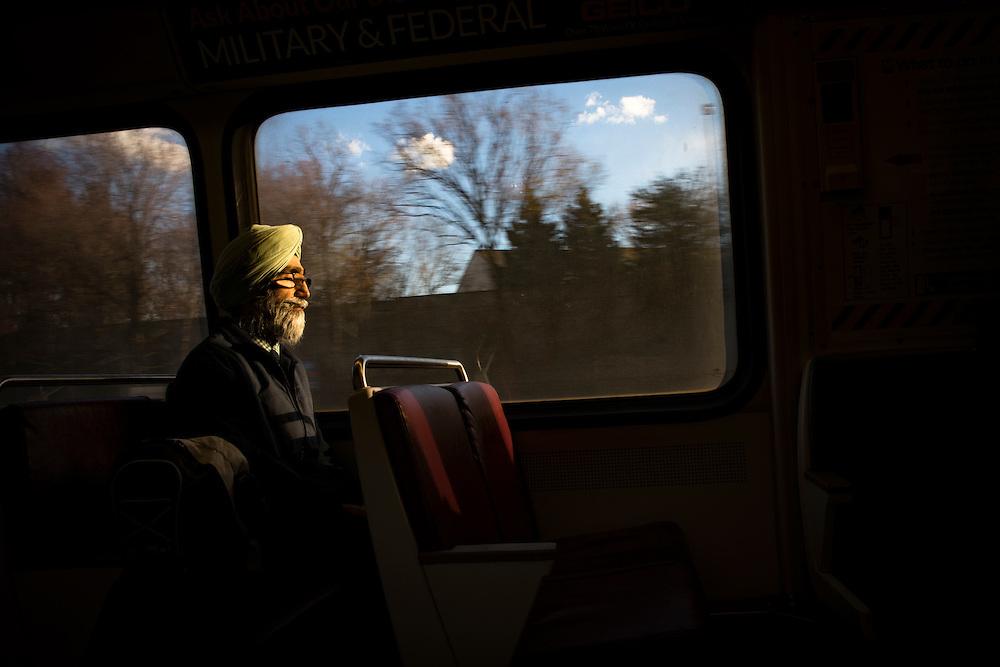 Commuters in Fairfax, Virginia area find their way.