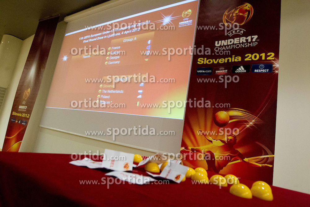 Final Round Draw of 11th UEFA European Under-17 Championship 2011/12, on April 4, 2012, in Ljubljana, Slovenia. (Photo by Vid Ponikvar / Sportida.com)