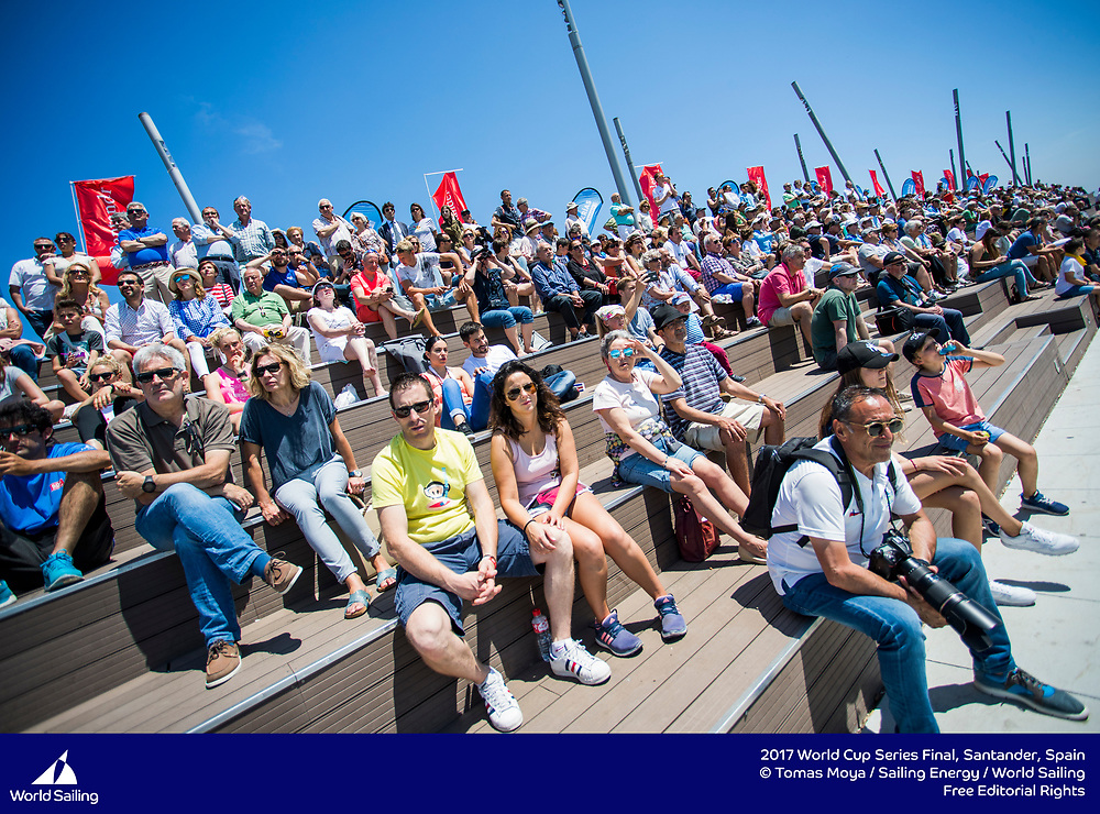 Santander, Spain, will host the Final of Sailing's 2017 World Cup Series from 4-11 June 2017. More than 250 sailors from 43 nations will race across the ten Olympic events as well as Open Kiteboarding. ©Tomas Moya / Sailing Energy / World Sailing