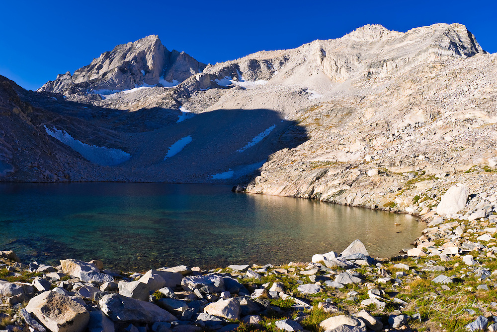 Dade Lake under Bear Creek Spire, John Muir Wilderness, Sierra Nevada Mountains, California