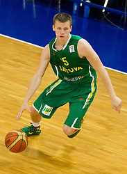 Arnas Butkevicius of Lithuania during basketball match between National teams of Slovenia and Lithuania in Preliminary Round of U20 Men European Championship Slovenia 2012, on July 14, 2012 in Domzale, Slovenia. Slovenia defeated Lithuania 87-81. (Photo by Vid Ponikvar / Sportida.com)