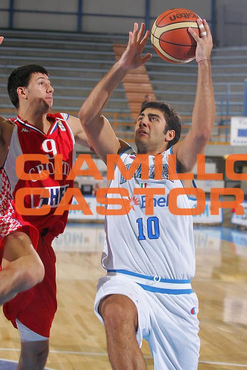 DESCRIZIONE : Gorizia U20 European Championship Men Qualifying Round Italy Croatia <br /> GIOCATORE : Aradori <br /> SQUADRA : Italy <br /> EVENTO : Gorizia U20 European Championship Men Qualifying Round Italy Croatia Campionato Europeo Maschile Under 20 Qualificazioni Italia Croazia <br /> GARA : Italy Croatia <br /> DATA : 10/07/2007 <br /> CATEGORIA : Tiro <br /> SPORT : Pallacanestro <br /> AUTORE : Agenzia Ciamillo-Castoria/S.Silvestri <br /> Galleria : Europeo Under 20 <br /> Fotonotizia : Gorizia U20 European Championship Men Qualifying Round Italy Croatia <br /> Predefinita :