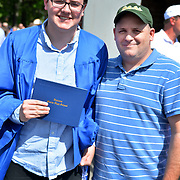 BATH, Maine --  Trevor, left, and Tim Patterson stand together after Morse High School graduation, June 8. Photo © Roger S. Duncan 2014.