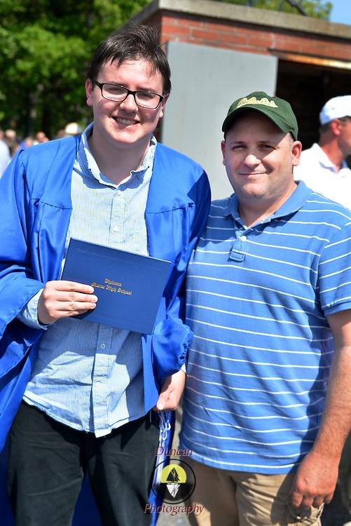 BATH, Maine --  Trevor, left, and Tim Patterson stand together after Morse High School graduation, June 8. Photo © Roger S. Duncan 2014.