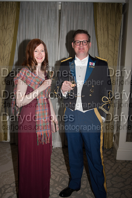 SAMANTHA BUDDE; MAJOR JOHN BUDDE, The Royal Caledonian Ball 2017, Grosvenor House, 29 April 2017