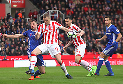 Gary Cahill of Chelsea (L) and Ryan Shawcross of Stoke City in action - Mandatory by-line: Jack Phillips/JMP - 18/03/2017 - FOOTBALL - Bet365 Stadium - Stoke-on-Trent, England - Stoke City v Chelsea - Premier League