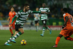 December 17, 2017 - Lisbon, Lisbon, Portugal - Sportings defender Cristiano Piccini from Italy (L) and Portimonense's defender Lumor Agbenyenu (R) during Premier League 2017/18 match between Sporting CP and Portimonense SC,.at Alvalade Stadium in Lisbon on December 17, 2017. (Credit Image: © Dpi/NurPhoto via ZUMA Press)