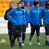 St Johnstone Training....30.12.14<br /> James McFadden pictured in training this morning ahead of the New Years Day game at Aberdeen.<br /> Picture by Graeme Hart.<br /> Copyright Perthshire Picture Agency<br /> Tel: 01738 623350  Mobile: 07990 594431