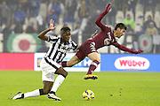 © Filippo Alfero<br /> Juventus-Torino, derby, Serie A 2014/2015<br /> Torino, 30/11/2014<br /> sport calcio<br /> Nella foto: Paul Pogba e Marco Benassi