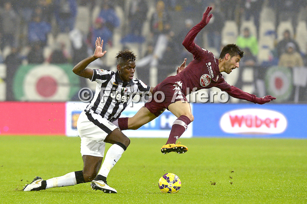 &copy; Filippo Alfero<br /> Juventus-Torino, derby, Serie A 2014/2015<br /> Torino, 30/11/2014<br /> sport calcio<br /> Nella foto: Paul Pogba e Marco Benassi