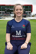 Lancashire Thunders Rachel Dickinson during the Lancashire County Cricket Club at the Emirates, Old Trafford, Manchester, United Kingdom on 3 April 2019.