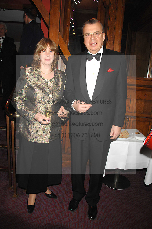 The Russian Ambassador to the UK HE YURY FEDOTOV and his wife at a gala in aid of the Raisa Gorbachev Charitable Foundation in honour of the late Russian dancer Maris Liepa held at The London Coliseum, London on 24th February 2008.<br />