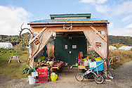 F&ouml;rs&auml;ljning av gr&ouml;nsaker hos Oceanside Farms.<br /> Homer, Alaska, USA