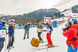 25.01.2020, Streif, Kitzbühel, AUT, FIS Weltcup Ski Alpin, im Rahmen der KitzCharityTrophy 2020 am Samstag, 25. Jänner 2020, auf der Streif in Kitzbühel. // f.l. Günther Mader Hans Knauss Arno Schuchter during the KitzCharityTrophy 2020 at the Streif in Kitzbühel, Austria on 2020/01/25, im Bild v.l. Günther Mader, Hans Knauss, Arno Schuchter // f.l. Günther Mader Hans Knauss Arno Schuchter during the KitzCharityTrophy 2020 at the Streif in Kitzbühel, Austria on 2020/01/25. EXPA Pictures © 2020, PhotoCredit: EXPA/ Stefan Adelsberger
