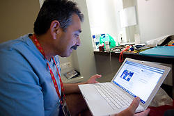 Physiotherapist of Slovenian athletics team Khalid Nasif in a Team's Hotel Estrel  during day five of the 12th IAAF World Athletics Championships at the Olympic Stadium on August 19, 2009 in Berlin, Germany. (Photo by Vid Ponikvar / Sportida)