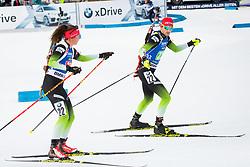 Jakov Fak (SLO) and Urska Poje (SLO) during Single Mixed Relay at day 1 of IBU Biathlon World Cup 2018/19 Pokljuka, on December 2, 2018 in Rudno polje, Pokljuka, Pokljuka, Slovenia. Photo by Ziga Zupan / Sportida