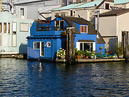 Floating Blue House in Vancouver BC Canada