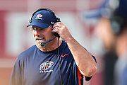FAYETTEVILLE, AR - SEPTEMBER 5:  Head Coach Sean Kugler of the UTEP Miners on the sidelines during a game against the Arkansas Razorbacks at Razorback Stadium on September 5, 2015 in Fayetteville, Arkansas.  The Razorbacks defeated the Miners 48-13.  (Photo by Wesley Hitt/Getty Images) *** Local Caption *** Sean Kugler