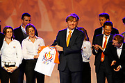 Prins van Oranje bij Olympisch Vuur Jaarcongres 2012  in Nationaal Sportcentrum Papendal in Arnhem. Olympisch Vuur is de alliantie achter het Olympisch Plan 2028. /// Prince Willem Alexander attends the Olympic Fire Annual Conference 2012 in National Olympic Sports Center Papendal in Arnhem. Olympic Fire is the alliance behind the 2028 Olympic Plan.