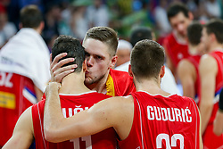Vladimir Stimac of Serbia, Vladimir Lucic of Serbia, Marko Guduric of Serbia  after the Final basketball match between National Teams  Slovenia and Serbia at Day 18 of the FIBA EuroBasket 2017 at Sinan Erdem Dome in Istanbul, Turkey on September 17, 2017. Photo by Vid Ponikvar / Sportida