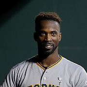 NEW YORK, NEW YORK - June 14:  Andrew McCutchen #22 of the Pittsburgh Pirates during the Pittsburgh Pirates Vs New York Mets regular season MLB game at Citi Field on June 14, 2016 in New York City. (Photo by Tim Clayton/Corbis via Getty Images)