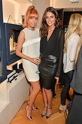 Left to right, AMBER LE BON and KIM JOHNSON at a party to celebrate the launch of the APM Monaco Flagship Store at 3 South Molton Street, London on 11th February 2016