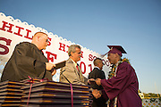 Cal Hills High School senior Jeremy Resendez receives his diploma during the Class of 2013 graduation at the Milpitas Sports Center in Milpitas, California, on June 6, 2013. (Stan Olszewski/SOSKIphoto)