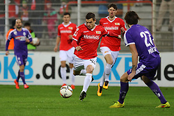 30.01.2016, Stadion An der Alten Foersterei, Berlin, GER, 1. FC Union Berlin vs SV Austria Salzburg, Testspiel, im Bild Raffael Korte (#13, 1. FC Union Berlin), Max Mueller (#27, SV Austria Salzburg), // during a preperation Football Match between 1. FC Union Berlin vs SV Austria Salzburg at the Stadion An der Alten Foersterei in Berlin, Germany on 2016/01/30. EXPA Pictures © 2016, PhotoCredit: EXPA/ Eibner-Pressefoto/ Hundt<br /> <br /> *****ATTENTION - OUT of GER*****