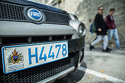 Car plate in City of San Marino, on October 12, 2015 in Republic of San Marino. Photo by Vid Ponikvar / Sportida