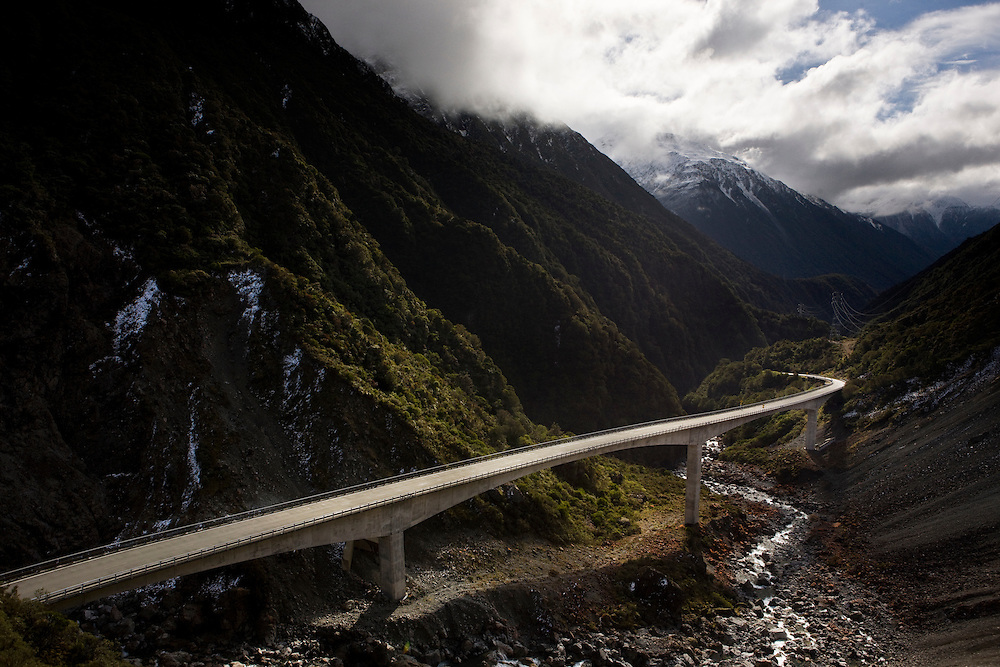The Otira Viaduct, completed in 1999.