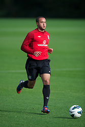 CARDIFF, WALES - Saturday, October 13, 2012: Wales' Ashley 'Jazz' Richards during a recovery training session ahead of the Brazil 2014 FIFA World Cup Qualifying Group A match against Croatia at the Vale of Glamorgan Hotel. (Pic by David Rawcliffe/Propaganda)