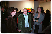 Molly Dent-Brocklehurst, Brian Clarke and Maria Helvin, Product: Richard Hamilton private view, Gagosian Gallery. London. 13 January 2003.  © Copyright Photograph by Dafydd Jones 66 Stockwell Park Rd. London SW9 0DA Tel 020 7733 0108 www.dafjones.com
