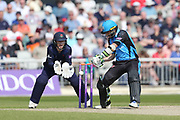 Worcestershire's Daryl Mitchell  during the Royal London 1 Day Cup match between Lancashire County Cricket Club and Worcestershire County Cricket Club at the Emirates, Old Trafford, Manchester, United Kingdom on 17 April 2019.