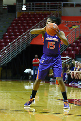 01 January 2012:  Briyana Blair during an NCAA women's basketball game between the Evansville Purple Aces and the Illinois Sate Redbirds at Redbird Arena in Normal IL