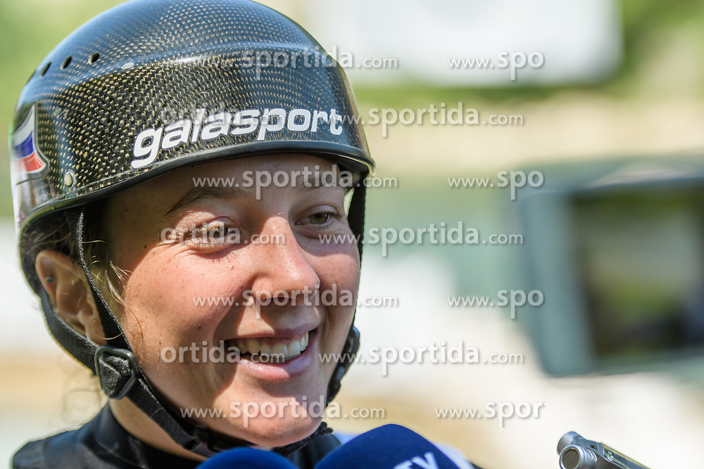 Alja KOZOROG of Slovenia during the Canoe Single (WC1) Womens Final race of 2019 ICF Canoe Slalom World Cup 4, on June 30, 2019 in Tacen, Ljubljana, Slovenia. Photo by Sasa Pahic Szabo / Sportida