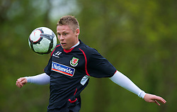 CARDIFF, WALES - Wednesday, May 19, 2010: Wales' Simon Church during a training session at the Vale of Glamorgan Hotel ahead of the International Friendly match against Croatia. (Pic by David Rawcliffe/Propaganda)