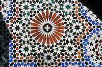 Maroc - Fès - Fès El Bali - Ensemble Nejjarine (Fontaine)- Détail
