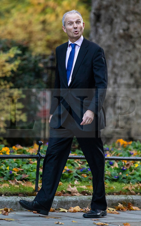 © Licensed to London News Pictures. 13/11/2018. London, UK. Minister for the Cabinet Office David Lidington arrives on Downing Street for the Cabinet meeting. Photo credit: Rob Pinney/LNP