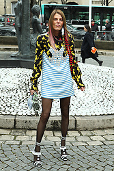 Anna Dello Russo arrives at the Miu Miu show as part of the Paris Fashion Week Womenswear Fall, Winter 2016, 2017 on March 9, 2016 in Paris, France. EXPA Pictures © 2016, PhotoCredit: EXPA/ Photoshot/ Zenon Stefaniak<br /> <br /> *****ATTENTION - for AUT, SLO, CRO, SRB, BIH, MAZ, SUI only*****