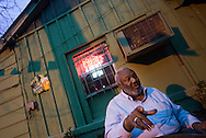 Indianola, Mississippi, February, 2009. Indianola native, lawyer and friend of  B. B. King, Carver Randle, is serving as Club Ebony's general manager. BB king bought the club where he performed regularly, in 2008.  Indianola is home of the Delta blues tradition that started in the cotton field and the Juke joints by the black sharecroppers. Photo by Frits Meyst/Adventure4ever.com