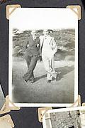 vintage image of two men posing casual