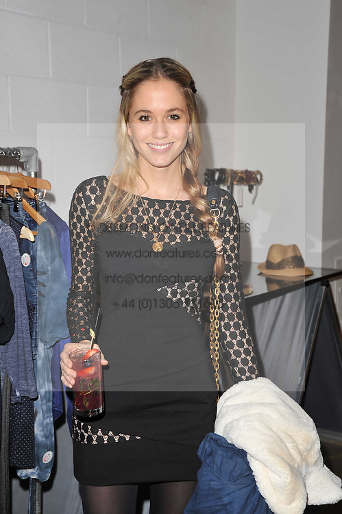 FLORENCE BRUDENELL-BRUCE at a party to launch pop-up store Oxygen Boutique, 33 Duke of York Square, London SW3 on 8th February 2011.