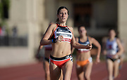 May 17, 2018; Los Angeles, CA, USA; Lyndsey Butterworth wins women's 800m heat in 2:02.20 during the USATF Distance Classic at Occidental College.