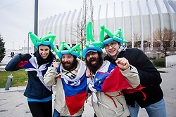 Slovenian fans before handball match between National teams of Germany and Montenegro on Day 2 in Preliminary Round of Men's EHF EURO 2018, on January 13, 2018 in Arena Zagreb, Zagreb, Croatia. Photo by Ziga Zupan / Sportida