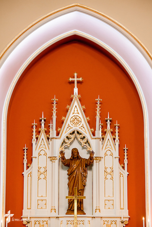 The altar with a statue of Jesus Christ on Saturday, Oct. 1, 2016, at St. John's Lutheran Church in Beardstown, Ill. LCMS Communications/Erik M. Lunsford