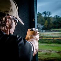 police shooting at the range pistol, shotgun, tactical