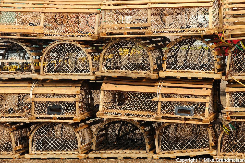Lobster traps<br /> Malpeque<br /> Prince Edward Island <br /> Canada