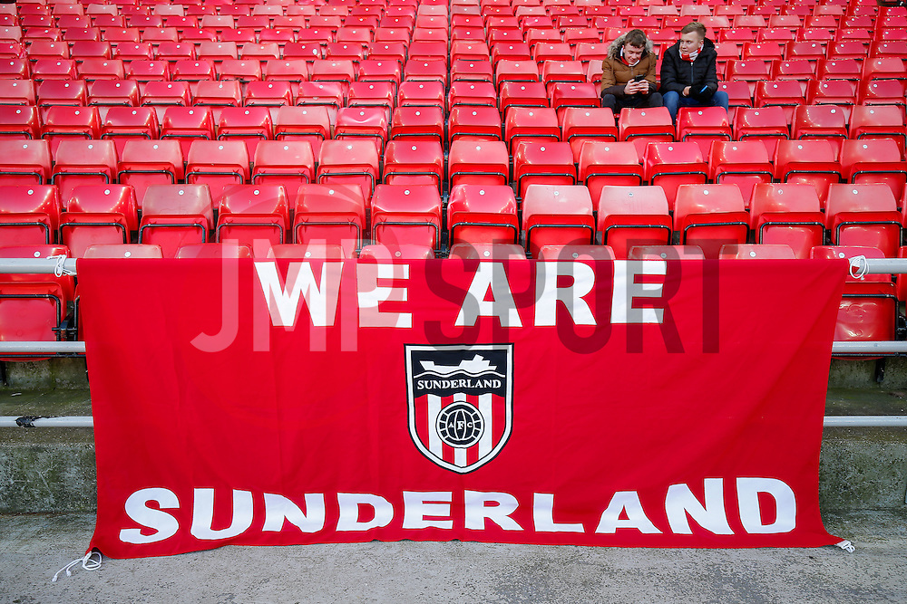 General View of a supporters flag inside the stadium - Photo mandatory by-line: Rogan Thomson/JMP - 07966 386802 - 04/01/2015 - SPORT - FOOTBALL - Sunderland, England - Stadium of Light - Sunderland v Leeds United - FA Cup Third Round Proper.