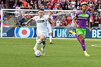 Football - 2018 / 2019 Sky Bet EFL Championship - Swansea City vs. Bristol City<br /> <br /> Barrie McKay of Swansea City attacks  Lloyd Kelly of Britol City, at Liberty Stadium.<br /> <br /> COLORSPORT/WINSTON BYNORTH